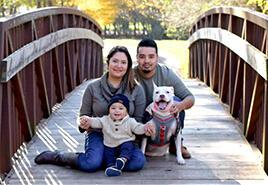 adoptive family Estuardo and Keiry