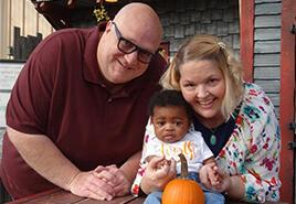 adoptive family Deb and Steve