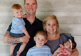 adoptive family Steve and Annie