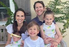 adoptive family Lindsay and David