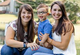 adoptive family Emily and Brooke
