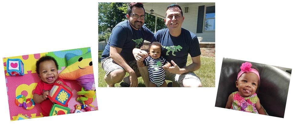 adoptive family Justin and Roberto