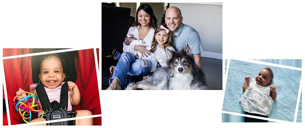 adoptive family Clayton and Courtney