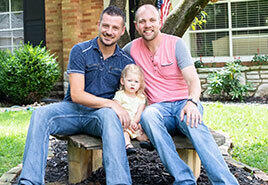adoptive family Joshua and John